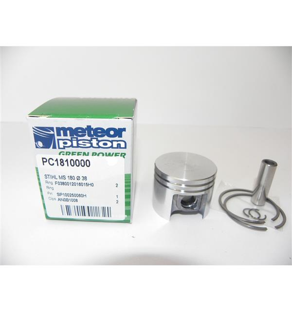 38mm PISTON KIT- STIHL 018, MS180 (10MM PIN)